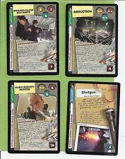 X-Files Ccg 4-Rares Cards Xf96 # 0329v1-0349v1-0342v1-0337 v1