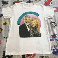 Kenny Rogers Dolly Parton T-Shirt XL 1990 Reprint XL B091