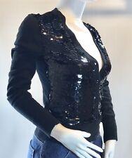 Michael Kors Black Sequin Cardigan Sweater NWT New Petite S P/S