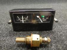 Cessna P210N Oil Pressure & Amperes Indicator W/ Probe  P/N C669527-0101