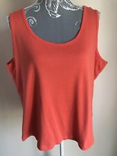 Capsule Womens Vest Top Size 20-22 Coral Cotton Sleeveless Tank