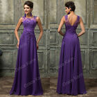 Sexy Lace Long Formal Evening Dress Pageant Party Wedding Bridesmaid Prom Gown