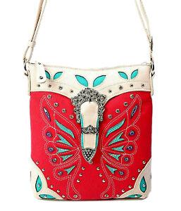 CrossBody Purses Handbag Fashion Butterfly Messenger Western Cowgirl Trendy Gift