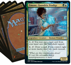 ZIMONE Commander Deck MTG Green Blue Magic the Gathering Lot with Rares