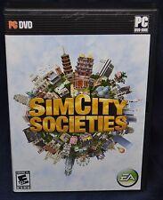 SimCity Societies  (PC, 2007) DVD-ROM, Manual in Original Case