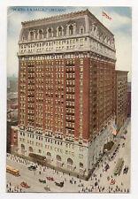 1916 CHICAGO HOTEL LA SALLE ABOVE VIEW POSTCARD PC3490