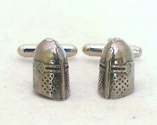 Medieval Knight's Casco gemelos en bien inglés Peltre, Regalo En Caja