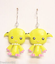 "Harajuku Japan The Gooli Monsters Yellow Shummi Mini Art Toys 2"" Dangle Earrings"