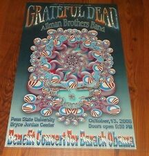 Allman Brothers & Grateful Dead Poster 10-13-08 Penn State Obama And Company # 2