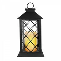 EAXUS Romantische Laterne mit LED Kerze 76650 schwarz flackernd Leuchte Deko