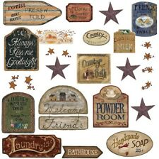 COUNTRY SIGNS 26 BiG Wall Stickers Room Decor Western Decals Stars Rustic Farm