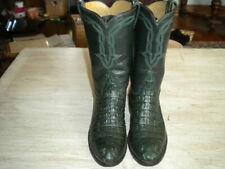 Ladies green Alligator Cowboy Boots Made In El Paso 6 B