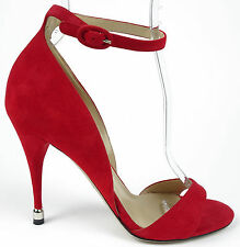 Paul Andrew Westside Red Suede Ankle Strap Open Toe Sandals 36.5 US 6.5 NIB $845
