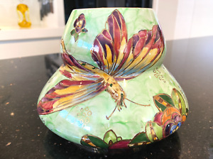 Royal Winton Grimwades Hand Painted Butterfly Vase C1930's