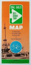 VTG Travel Brochure Coral Gables Self Guided Tour Map Bicycle Path Florida