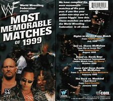 WWE WWF Most Memorable Matches of 1999 McMahon Austin New Wrestling VHS Tape