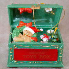 New listing Christmas Ornament Plastic Toy Chest or Doll House #3 Mouse Bear Drum Tree Wreat