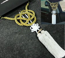 Vip Style Charm Junction Produce Fusa White Kiku JP Knot & Gold Kin Tsuna Rope