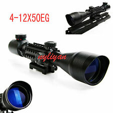 Tri-Side Illuminated 4-12X50EG R/G Rangefinder Sight Scope For Rifle Hunting