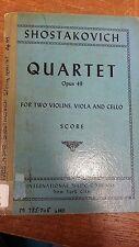 Schubert: String Quartet: Opus 49: Music Score