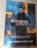 THE BOURNE IDENTITY MATT DAMON Australian VIDEO release LARGE MOVIE  POSTER