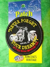 "CRAZY HORSE MEMORIAL ""NEVER FORGET YOUR DREAMS"" PATCH BLACK HILLS S DAKOTA (P22)"