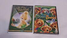 Lot Of 2 New Sealed Disney Kids DVD Movies Spooky Buddies & Tinkerbell Fairies