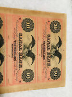 1800'S $10 DOLLARS CANAL BANK, NEW ORLEANS. STATE OF LOUISIANA, SCARSE
