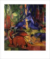 Blauer Reiter Franz Marc caprioli nel bosco II. 1914 per stampa d'arte 18 POSTER MANIFESTO