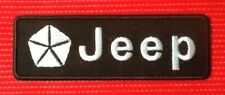JEEP AMERICAN V8 POWER MUSCLE CAR MOTOR RACING SPORTS BADGE IRON SEW ON PATCH