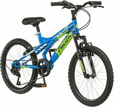 Pacific Evolution 20 Inch Boy's Mountain Bike steel frame 18 speed Bicycle Blue