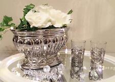 Dekoschale Dekovase Keramikschale Keramikvase Keramik Silber Hochglanz Shabby