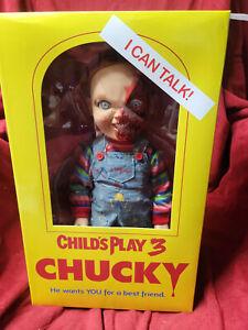 "Mezco Child's Play 3 Talking Pizza Face Chucky Doll Mega Size 15"" Figure NEW"