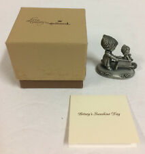 Vintage Little Gallery Betsey Clark Sunshine Day Pewter Figurine Nm 1980