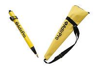 AdirPro Mini (1.28') Stakeout Yellow Prism Pole, Surveying, Topcon, Sokkia,Leica