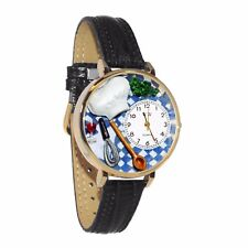 Chef Black Leather Watch Whimsical Watches Unisex G0310002
