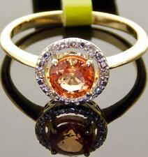 14K GOLD 1.00CT ROUND SPINEL & DIAMOND HALO-STYLE SOLITAIRE ENGAGEMENT RING