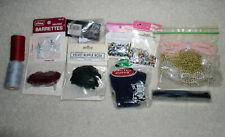 Assorted Craft Supplies Large Lot Beads Pearls Thread Velvet Flower Bells La568V