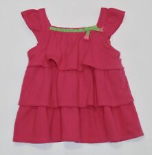 """Gymboree """"Bright Tulip"""" Tiered Ruffle Bright Pink Swing Top, 5T"""