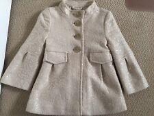 Gap Kids Girls Coat Jacket Medium Size 4-5 XS Wool Blend Cream Sequins