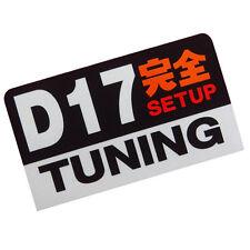 D17 engine Setup Tuning racing 3M JDM stickers decals dash car civic v-tec swap