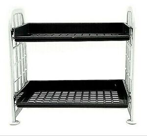 RYSON 2 Tier Utility Shelves Shelving Kitchen Bathroom Under sink Office Desktop