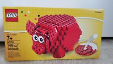 NEW in box LEGO Red Piggy Bank 40155 Red coin slot Coin Bank 148 pcs Bday Gift