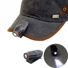 Fishing Camping Outdoor Clip-on LED Cap Hat Light Lamp Mini Torch Headlight