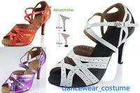 Ladies Samba Ballroom Latin Tango Salsa Dance Shoes Heels Sandals 34-42 3Colors