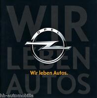 Prospekt Opel - Wir leben Autos 2010 brochure Autoprospekt Auto Pkw Deutschland