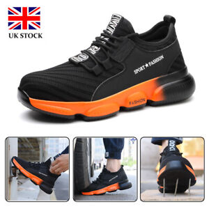 Mens Safety Shoes Steel Toe Cap Work Boots Protective Hiker Safety Trainers UK