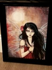 Earthen Dusk Fairy Fantasy Mythical Magic Fairy Wings Framed Picture Beautiful