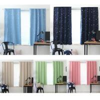 1X1.3m Star Blackout Curtain Living Room Window Blind Shading Screen Drapes K1B