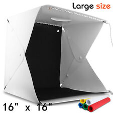 "16"" x 16"" Portable LED Light Photography Soft Box Shooting Tent Photo Studio"